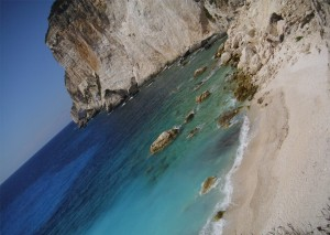 Erimitis Beach in Paxos.